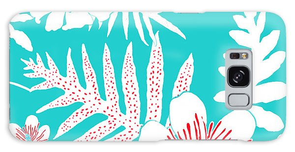 Bold Fern Floral - Turquoise Galaxy Case