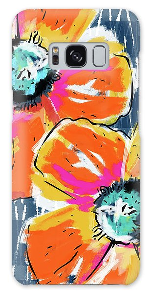 Bold Orange Poppies- Art By Linda Woods Galaxy Case by Linda Woods