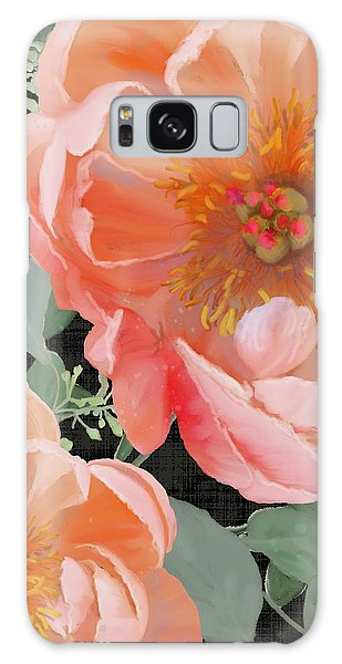 Galaxy Case featuring the painting Bold Peony Seeded Eucalyptus Leaves by Audrey Jeanne Roberts