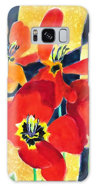 Bold Quilted Tulips Galaxy Case