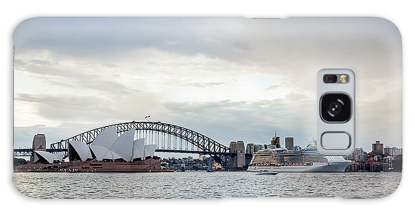 Sydney Skyline Galaxy Case - Bon Voyage by Az Jackson