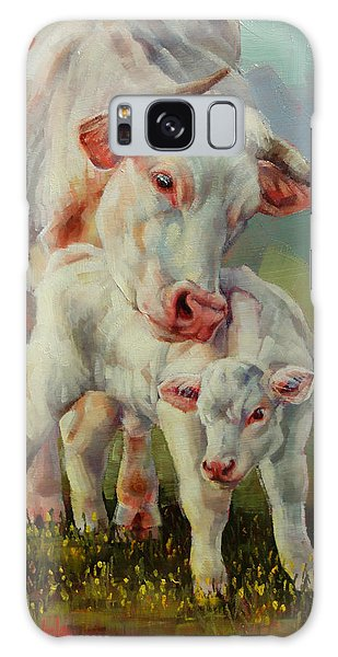 Bonded Cow And Calf Galaxy Case by Margaret Stockdale