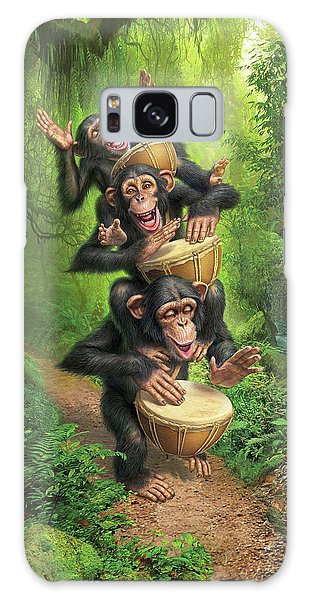 Drum Galaxy Case - Bongo In The Jungle by Mark Fredrickson