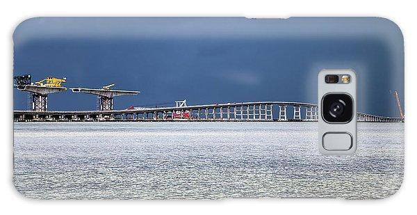 Galaxy Case featuring the photograph Bonner Bridge Replacement by Alan Raasch