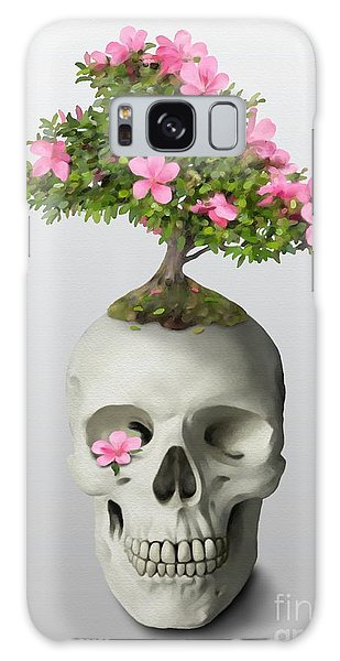 Galaxy Case featuring the painting Bonsai Skull by Ivana Westin