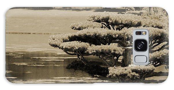 Bonsai Tree Near Pond In Sepia Galaxy Case