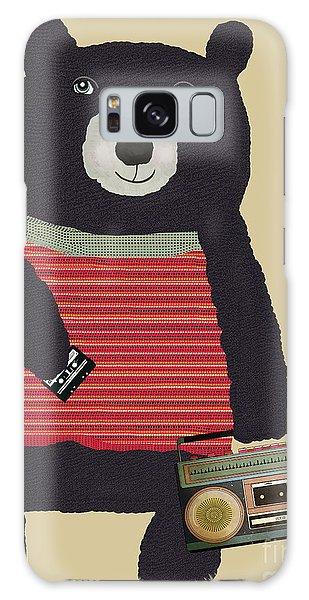 Mixed-media Galaxy Case - Boomer Bear  by Bri Buckley