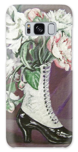 Booted Peonies Galaxy Case