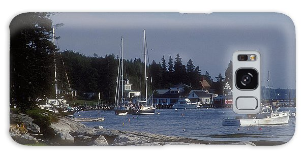 Boothbay Harbor In Maine Galaxy Case by Darleen Stry