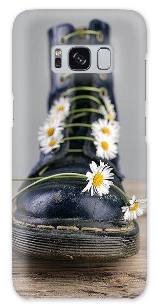 Daisy Galaxy Case - Boots With Daisy Flowers by Nailia Schwarz