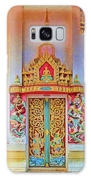 Bophut Temple In Thailand Galaxy Case