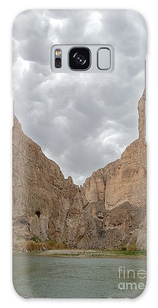 Boquillas Canyon And Scalloped Clouds Big Bend National Park Texas Galaxy Case