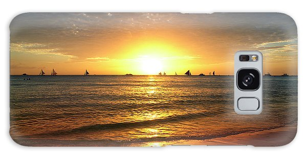 boracay,Philippians 4 Galaxy Case by Mark Ashkenazi
