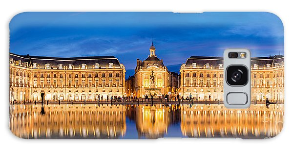 Town Square Galaxy Case - Bordeaux By Night by Delphimages Photo Creations