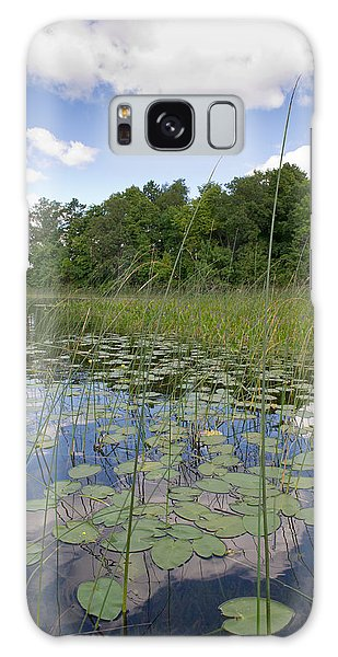 Borden Lake Lily Pads Galaxy Case