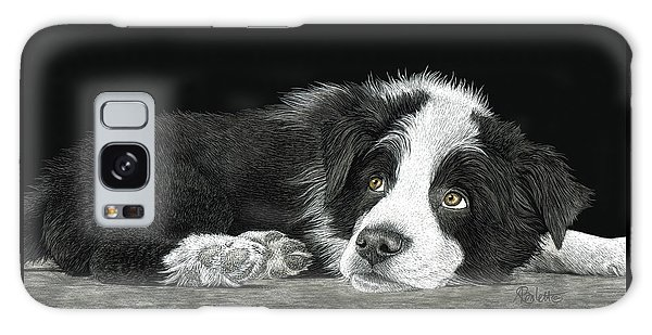 Border Collie Pup For Limited Items Galaxy Case
