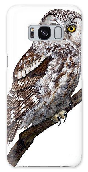 Boreal Owl Tengmalm's Owl Aegolius Funereus - Nyctale De Tengmalm - Paerluggla - Nationalpark Eifel Galaxy Case