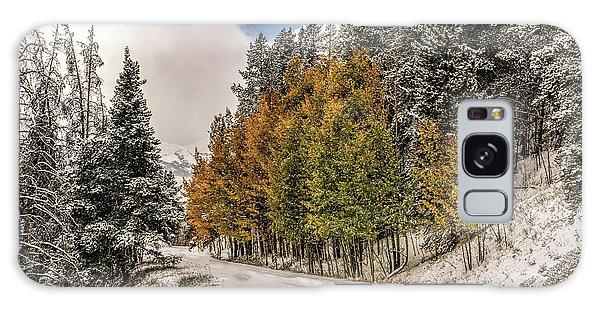 Boreas Pass Road Aspen And Snow Galaxy Case