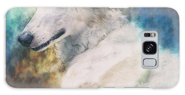 Sighthound Galaxy Case - Borzoi Portrait by Wolf Shadow Photography