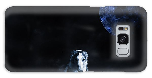Borzoi Wolf-hound, Hunting Under A Full Moon Galaxy Case by Christian Lagereek