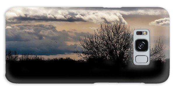 Galaxy Case featuring the photograph Bosque Sunset by Britt Runyon