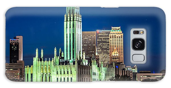 Boston Avenue Methodist Church At Twilight Galaxy Case by Tamyra Ayles