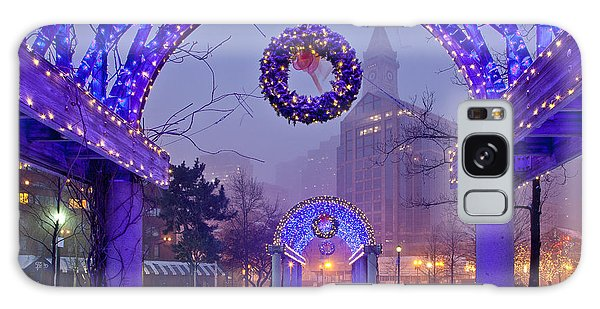Boston Blue Christmas Galaxy Case by Susan Cole Kelly