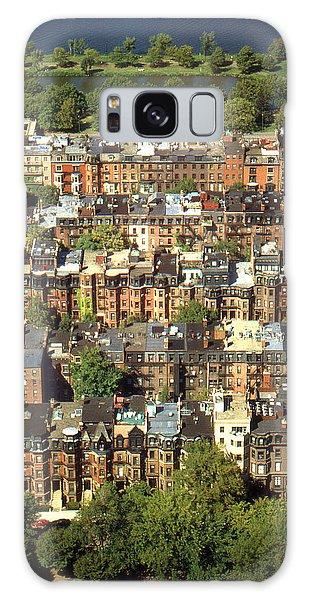 Boston Brownstone Architecture Galaxy Case