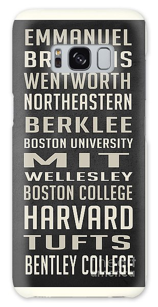 Boston Colleges Poster Galaxy Case by Edward Fielding