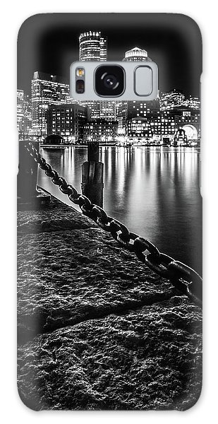 Boston Harbor At Night Galaxy Case