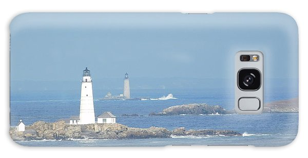 Boston Harbor Lighthouses Galaxy Case
