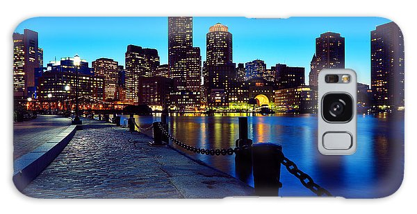 Boston Harbor Walk Galaxy Case