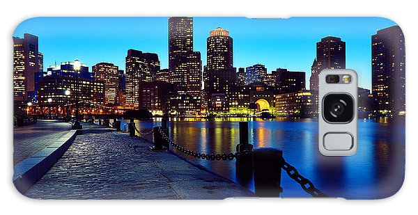 Boston Harbor Walk Galaxy Case