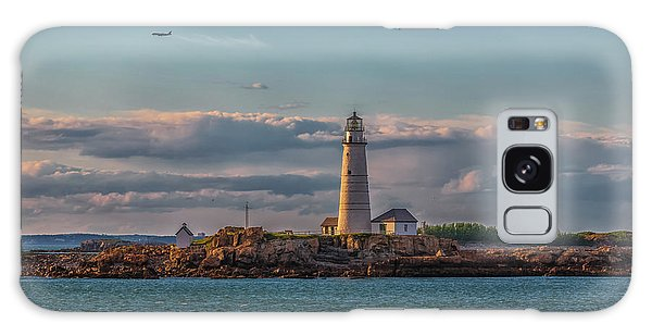 Boston Lighthouse Sunset Galaxy Case