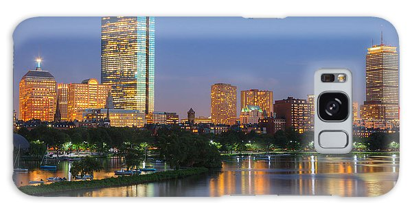 Boston Night Skyline II Galaxy Case by Clarence Holmes