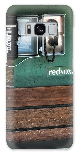 Galaxy Case featuring the photograph Boston Red Sox Dugout Telephone by Susan Candelario