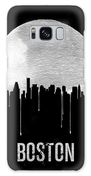 Downtown Galaxy Case - Boston Skyline Black by Naxart Studio