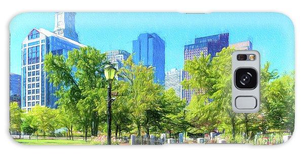 Boston Skyline From Columbus Park Galaxy Case