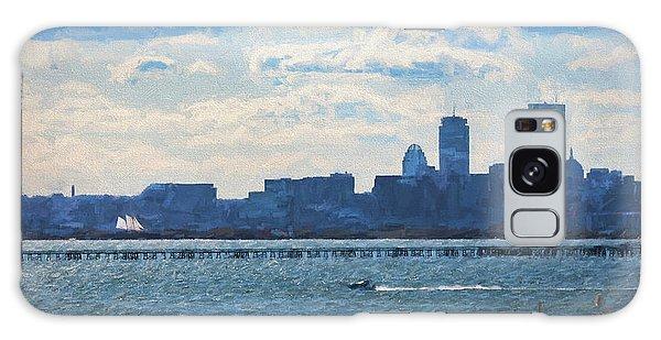 Boston Skyline From Deer Island Galaxy Case