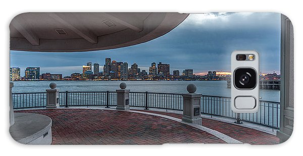 Boston Skyline From Piers Park  East Boston Ma Galaxy Case