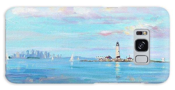 Lighthouse Galaxy Case - Boston Skyline by Laura Lee Zanghetti