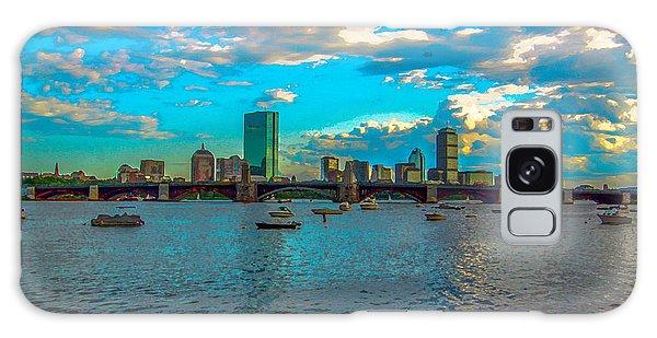 Boston Skyline Painting Effect Galaxy Case