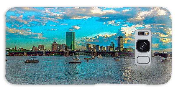 Boston Skyline Painting Effect Galaxy Case