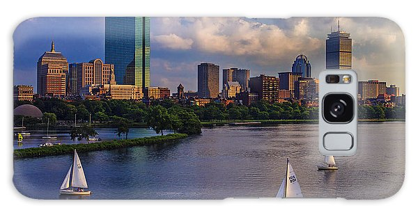 Cityscape Galaxy Case - Boston Skyline by Rick Berk