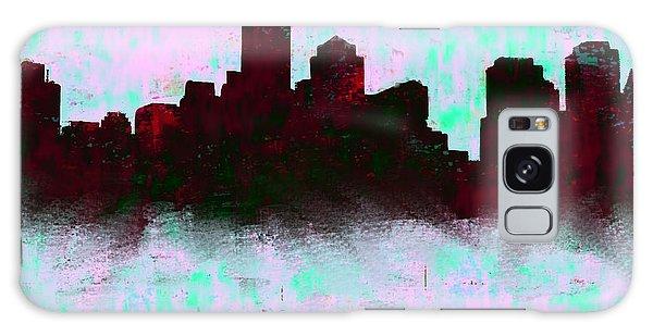 Boston Skyline Sky Blue  Galaxy Case by Enki Art
