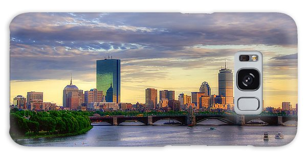 Boston Skyline Sunset Over Back Bay Galaxy Case