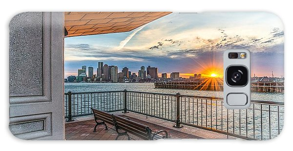 Boston Sunset From Piers Park East Boston Ma Galaxy Case