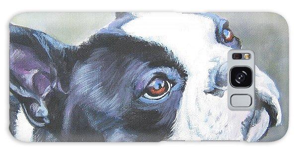 boston Terrier butterfly Galaxy Case by Lee Ann Shepard