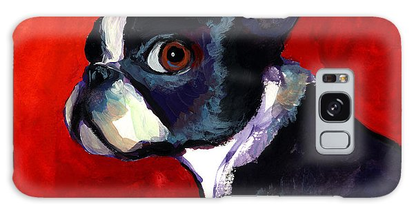 Boston Terrier Dog Portrait 2 Galaxy Case