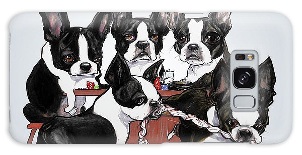 Boston Terrier - Dogs Playing Poker Galaxy Case